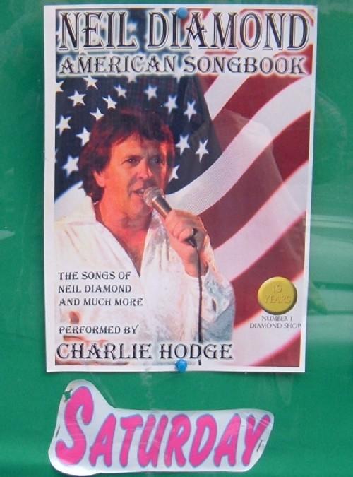 Charlie Hodge sings Neil Diamond. Photo by Steve Andrews