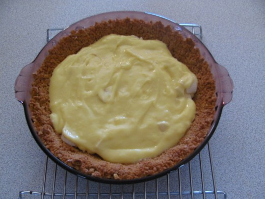 Top with 1/2 pudding filling