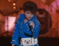 Bruno Mars as a young Elvis impersonator in Waikiki