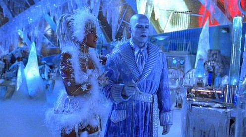 Vivica as Ms. B. Haven  with Arnold S. as Mister Freeze