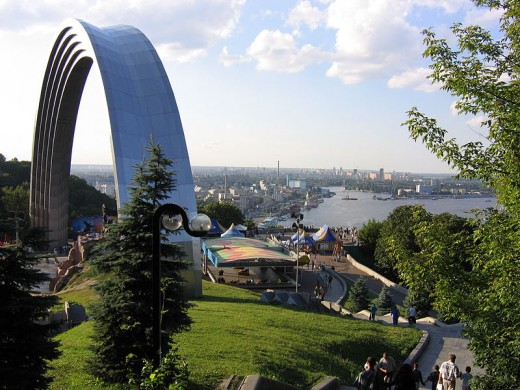 164 ft (50 meter) long Rainbow Monument to the Friendship between Ukraine and Russia