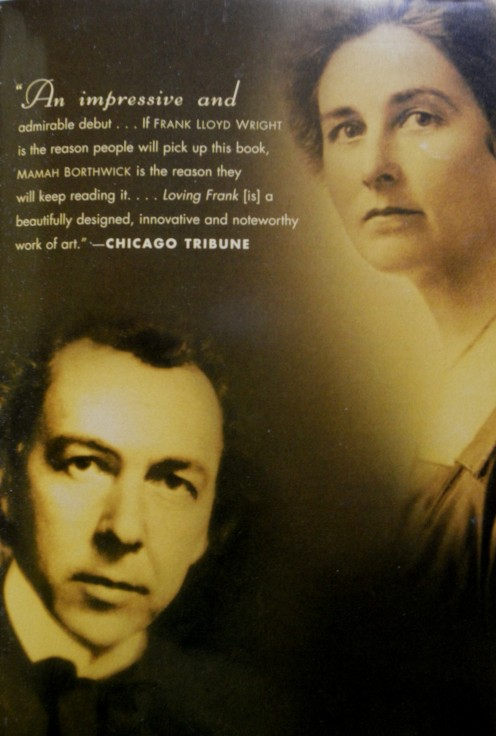 Picture of Frank Lloyd Wright and Mamah Borthwick Cheney taken from the novel Loving Frank by Nancy Horan