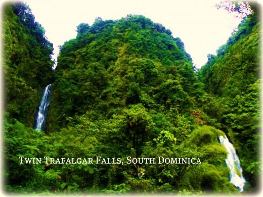Beautiful Twin Trafalgar Falls, Located close to the capital, Roseau