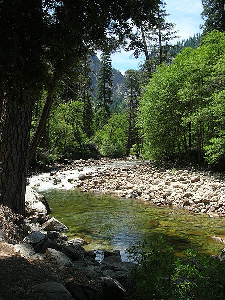 Beautiful Merced River in Yosemite