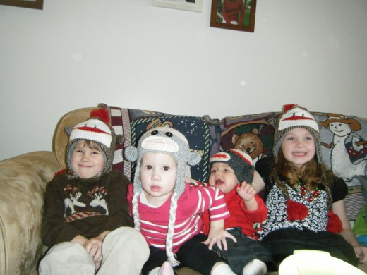 My nieces and nephews; Ethan, Nora, Noah, and Lily.