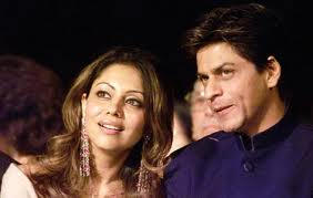 Indian superstar Shahrukh Khan with his wife.
