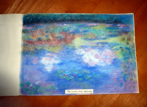 My own pastel drawing of The Cloud painted by Claude Monet in 1903