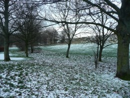 Holyrood Park in Winter