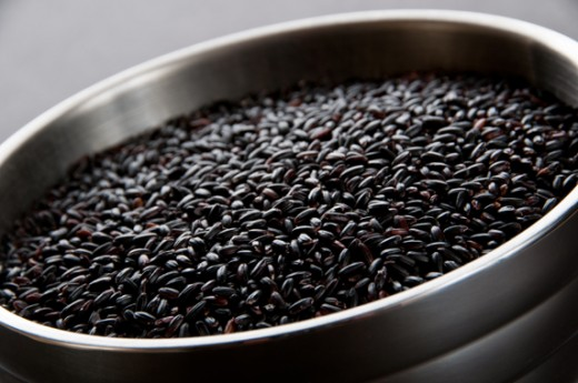 "Black rice or known as the ""forbidden rice."""