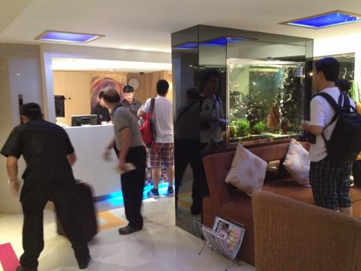 Hotel lobby is tiny
