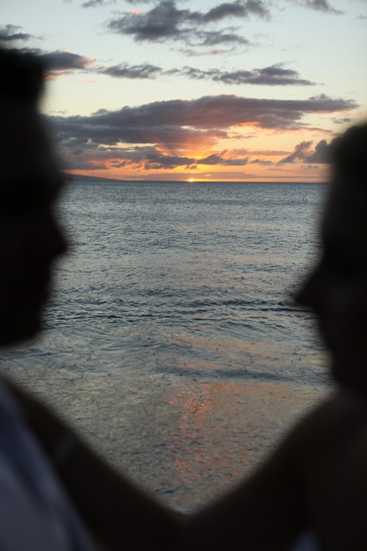 My husband and I at sunset