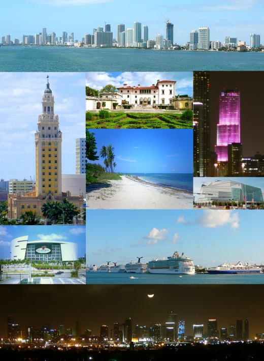 A collage of Miami sights