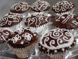 If you're creative, you can also buy a tube of icing and decorate the tops, to make them look a little fancier.