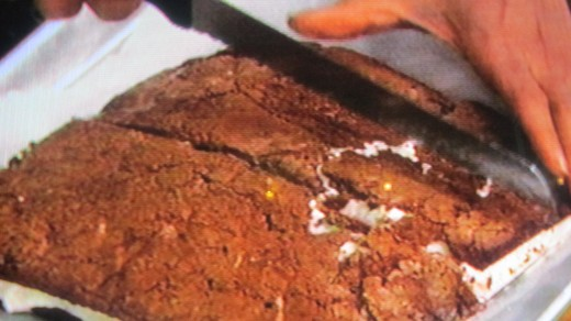 Photo of the fro-yo brownie that was prepared by Carla.