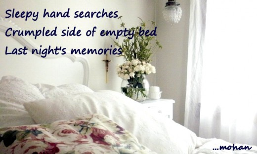Haiga: Empty bed