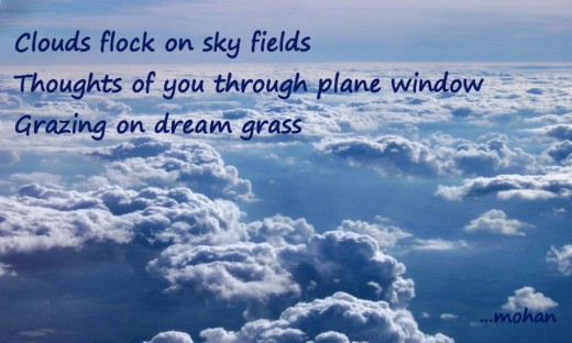 Haiga: Cloud flock