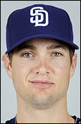 Cory Luebke smirks as he thinks about the chance opposing hitters have against his arsenal of pitches.