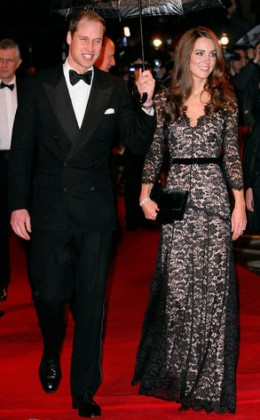 Kate at the official viewing of the movie, Warhorse, in Britain