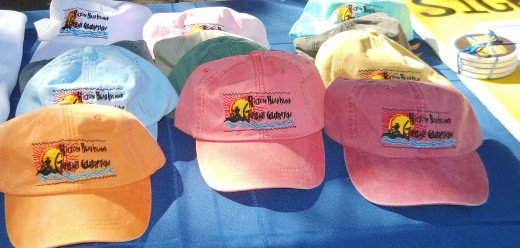 Brightly colored hats commemorating the festival were sold, as well as T-shirts, mugs and other items.