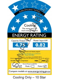 How to cut electricity cost from air con; use only10-star rated air conditioning. This rating label show the Australia and New Zealand label. Most Government now test and label airconditioners to help you buy best.