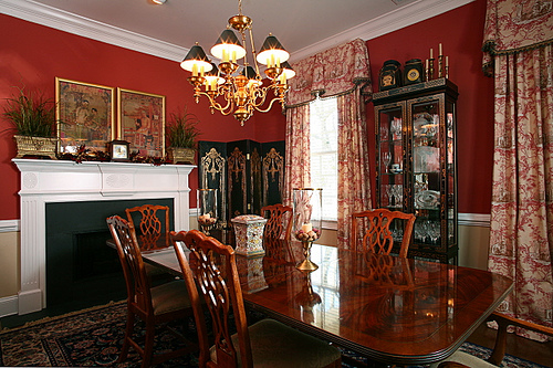 Turn your overly formal dining room into a comfortable and useful space.