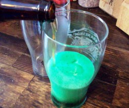 Watch your beer glow green.
