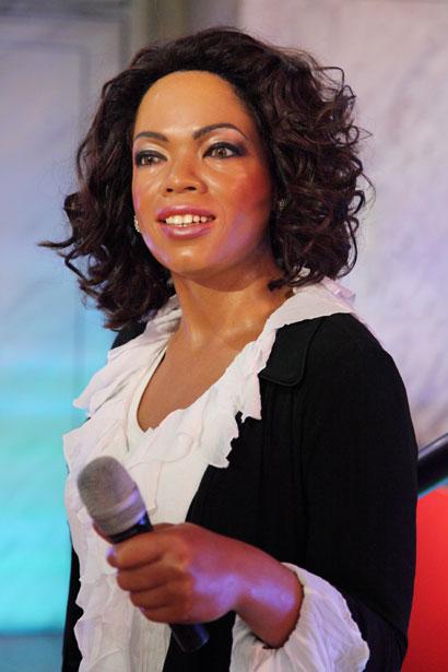 Oprah Winfrey wax figure in museum