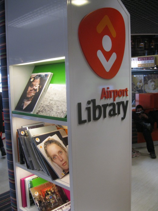 Amsterdam Airport Schiphol - Library where one can relax and read a book