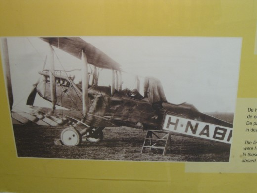 Amsterdam Airport Schiphol - Photo of Converted De Havilland DH 9C Bomber that KLM used for their first passenger planes in 1920