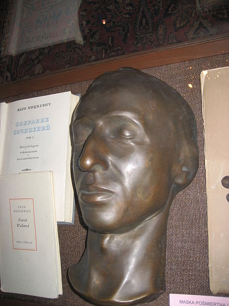 The death mask of Chopin at the Polish Museum in Rapperswil, Switzerland
