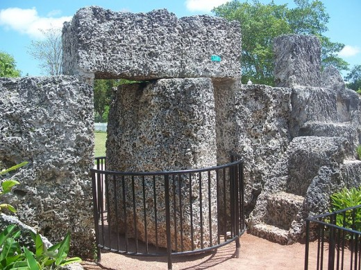 Coral Castle's nine-ton rotating gate.