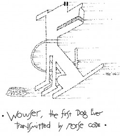 Wowser, the First Dog Ever Transmitted by Morse Code