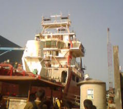 Fishing vessel at Malpe Harbour