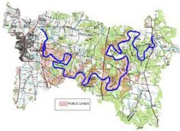 The entire stretch of the Duck River is completely inside the borders of Tennessee.