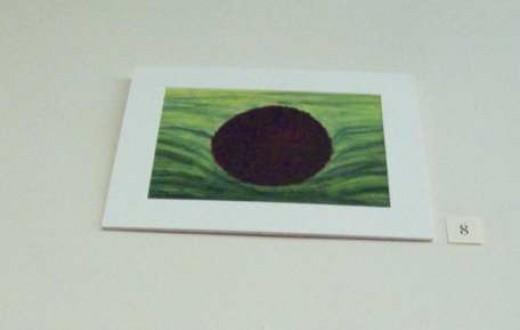 "Jocelyn Reese's ""Black Hole: Spring"" - oil on paper, 2011."