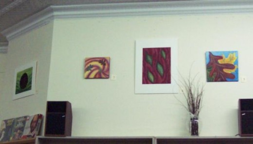 "More of Reese's work: ""Swirling"", ""Red River"" and ""Looking Up"" - oil on paper, 2011."