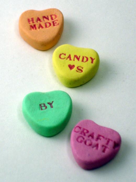 Handmade Candy Hearts