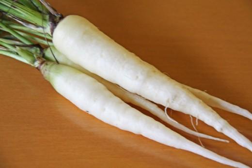 White carrots.