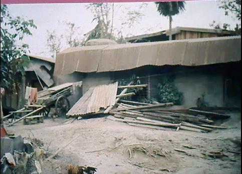 My grandma's house in Zambales, Philippines affected by the eruption.