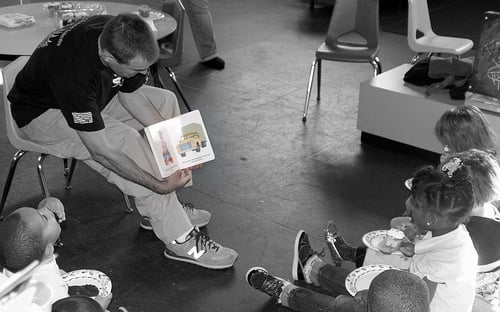 Reading aloud to kids are great to get their participation and attention