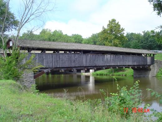 Covered Bridge looking TOWARD Rt. 32
