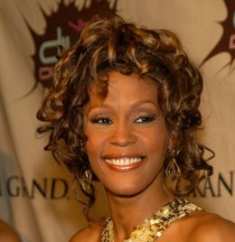 Whitney Houston - looks like this may have been taken at an earlier Grammy Awards.