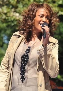 Whitney Houston performing at Good Morning America in Central Park on September 1, 2009