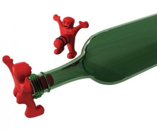Happy Man Bottle Stopper by Pal