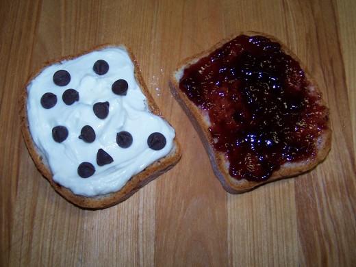 Chocolate, Raspberry Jam, Cheesecake  Filling
