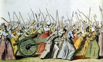 France's Women on the way to Louis' Palace at Versailles.