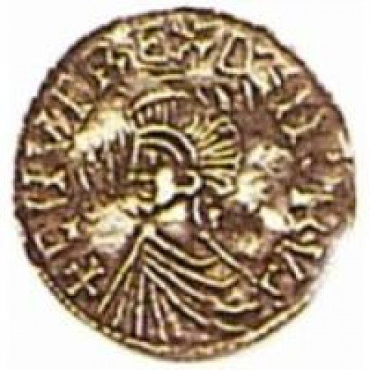 Coin of Knut 'the Great', also in the style of a Roman emperor. In Knut's case it was closer to fact, as he controlled land east-west between the Baltic and the Atlantic, north-south between Norway and Devon