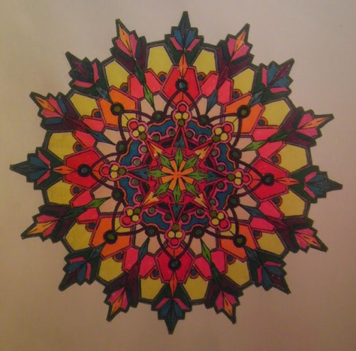 Mandala with markers