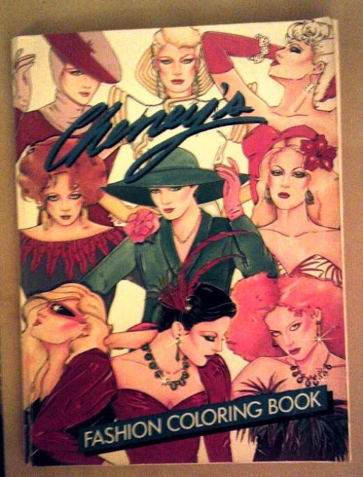 Fashion coloring book, circa 1980