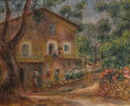 """The House of Collette in Cagnes"" by Pierre-Auguste Renoir (1912). European Impressionism, Museo Soumaya, founded by the richest man in the world, Carlos Slim Helu. Mexico City."